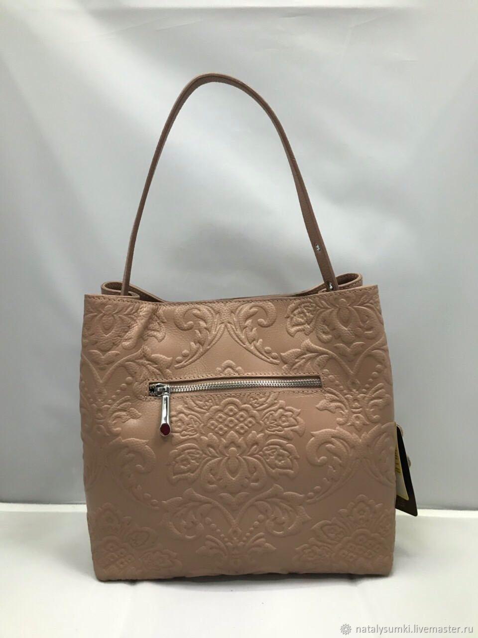 Женская кожаная сумка а03 с кошельком кремовая натуральная кожа ... 7429e3df9fa