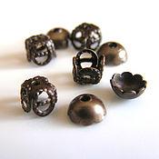 Материалы для творчества handmade. Livemaster - original item Bead caps 2 types 5 and 6 mm Vintaj. Handmade.