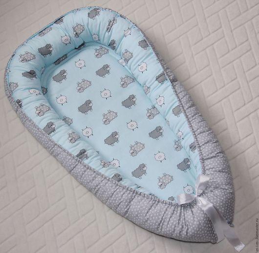 Детская ручной работы. Ярмарка Мастеров - ручная работа. Купить Гнездышко для малыша. Handmade. Комбинированный, гнездо, для новорожденных, гнездо для новорожденного