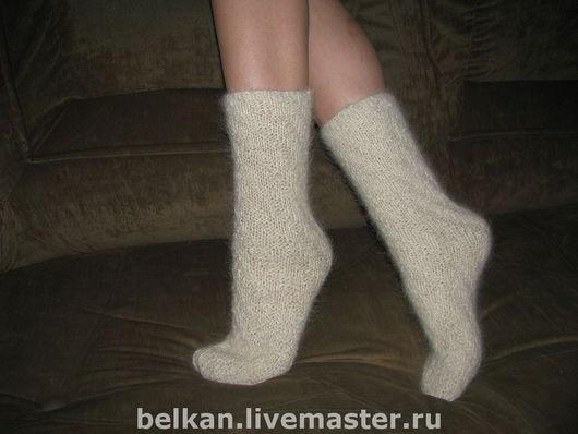 Носки, Чулки ручной работы. Ярмарка Мастеров - ручная работа. Купить Носочки из собачьей шерсти женские. Handmade. Носки женские