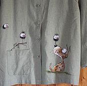 Одежда ручной работы. Ярмарка Мастеров - ручная работа Роспись жакета. Handmade.