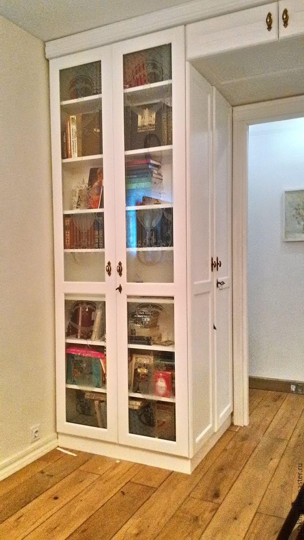"""Проект: портал из шкафов с антресолью из бука и дверь - """"меб."""