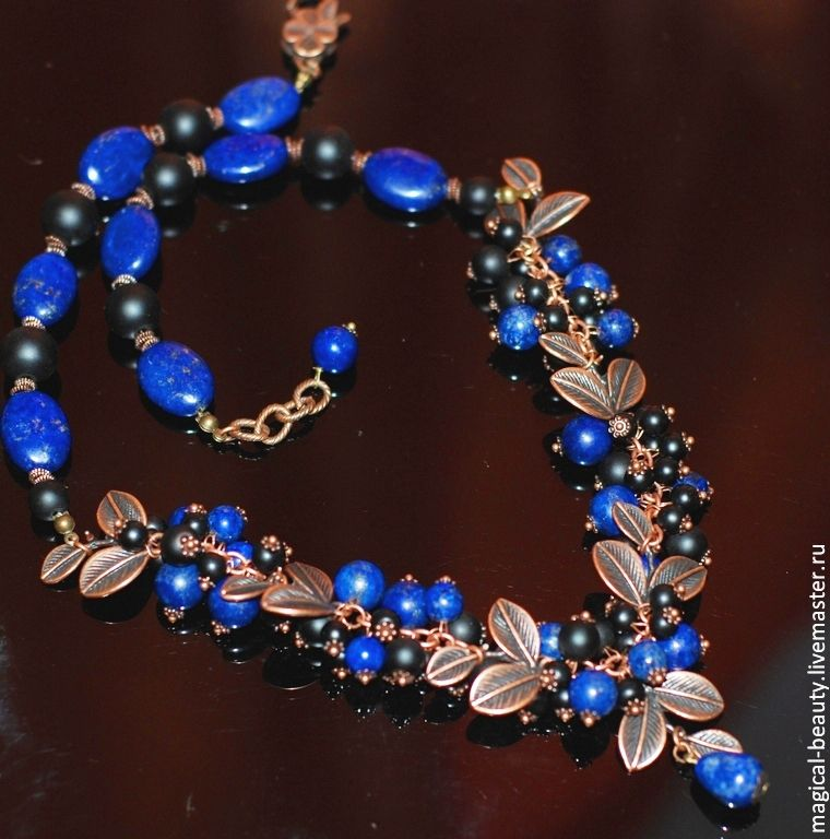 Necklace with lapis lazuli ' the Whisper of stars', Necklace, Moscow,  Фото №1