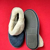 Обувь ручной работы handmade. Livemaster - original item The blue chuni of Mouton.Solid sole. Handmade.