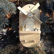 Ключницы ручной работы. Ярмарка Мастеров - ручная работа Ключница - мельница. Handmade.