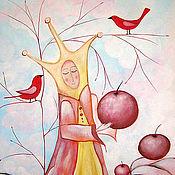 Картины и панно ручной работы. Ярмарка Мастеров - ручная работа Картина   Шахматы  игра  в  яблоки  королева. Handmade.