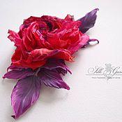 "Цветы и флористика ручной работы. Ярмарка Мастеров - ручная работа Роза из шёлка ""Lady in red"". Handmade."