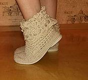 Обувь ручной работы. Ярмарка Мастеров - ручная работа Сапожки вязаные. Handmade.