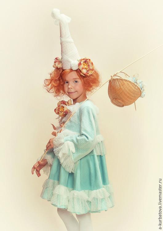 """Карнавальные костюмы ручной работы. Ярмарка Мастеров - ручная работа. Купить Платье """"Небесная фея"""". Handmade. Голубой, однотонный, ангел"""