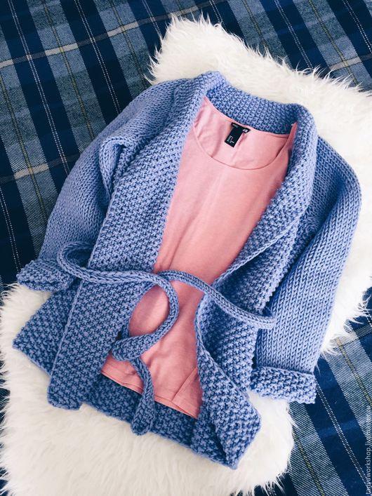 """Кофты и свитера ручной работы. Ярмарка Мастеров - ручная работа. Купить Кардиган """"Полупальто"""". Handmade. Кардиган, спицы, акрил"""