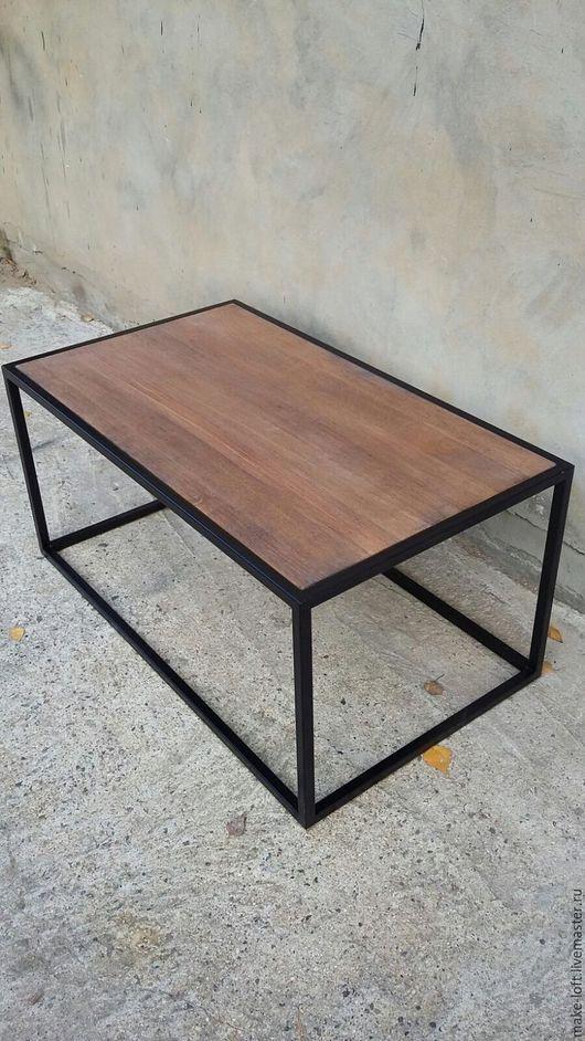 Мебель ручной работы. Ярмарка Мастеров - ручная работа. Купить Журнальный столик на металлическом каркасе. Handmade. Столик, лофт, Мебель