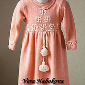 Работы для детей, ручной работы. Ярмарка Мастеров - ручная работа Платье детское из шерсти Нежные цветочки. Handmade.