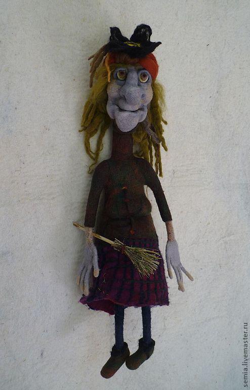 """Сказочные персонажи ручной работы. Ярмарка Мастеров - ручная работа. Купить Кукла """"Баба Яга"""". Handmade. Баба яга, валяная"""