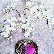 Цветы ручной работы. Ярмарка Мастеров - ручная работа Орхидеи белые `Фаленопсис интерьерные цветы из шелка. Handmade.