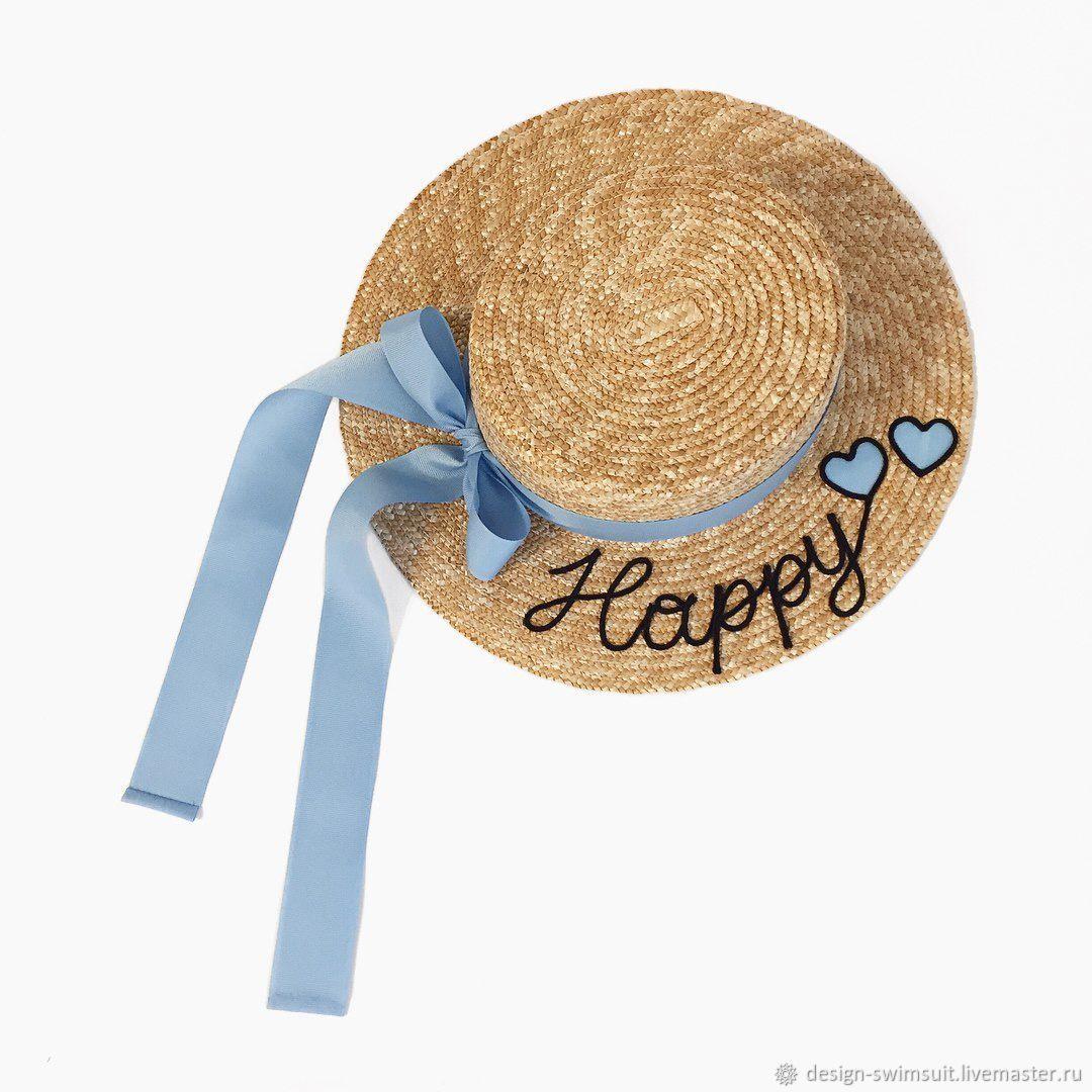 Straw boater hat, Hats1, Lesnoj Gorodok,  Фото №1