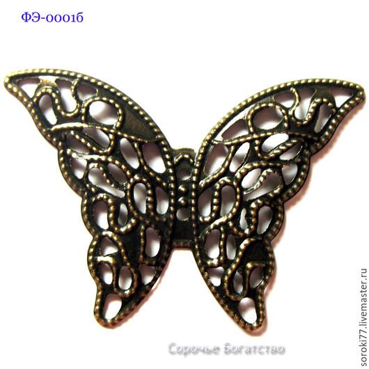 Филигрань бабочка - декоративный элемент под античную бронзу.