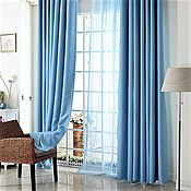 Для дома и интерьера ручной работы. Ярмарка Мастеров - ручная работа Плотные шторы голубого цвета из интерьерного софта. Handmade.