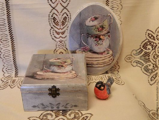 """Кухня ручной работы. Ярмарка Мастеров - ручная работа. Купить Набор""""Чайный"""". Handmade. Серый, подарок на любой случай, подарок на новый год"""