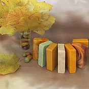 """Косметика ручной работы. Ярмарка Мастеров - ручная работа """"Осенняя мелодия"""" набор натурального мыла с нуля. Handmade."""