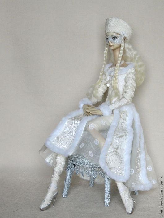 Коллекционные куклы ручной работы. Ярмарка Мастеров - ручная работа. Купить Хозяйка зимы Авторская коллекционная кукла. Handmade. Белый