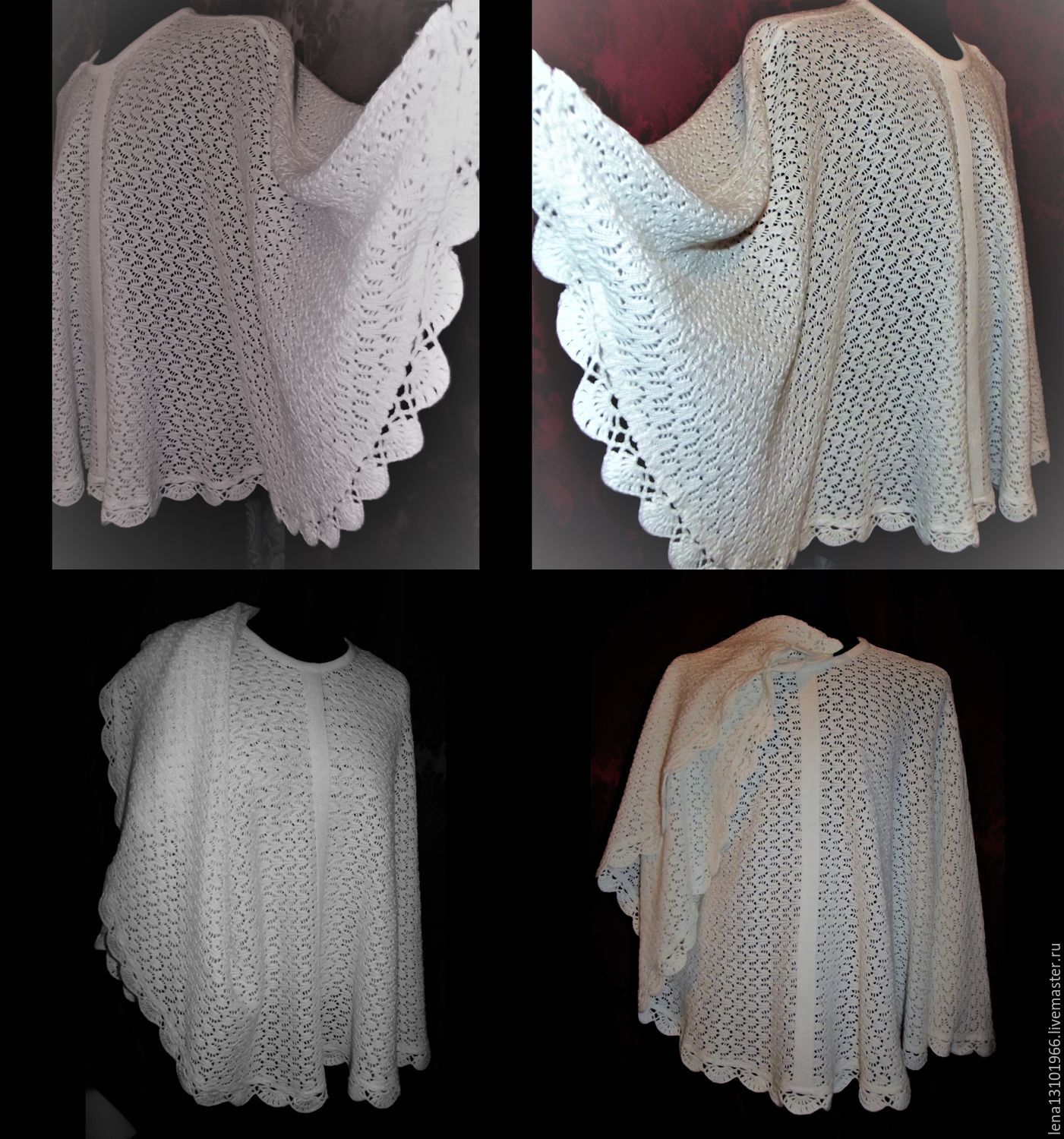 When ordering a poncho to March 1, 2017-a Lacy scarf as a gift!
