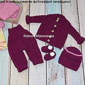 Работы для детей, handmade. Livemaster - original item set Magic Color sweater pants hat socks. Handmade.