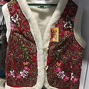 Одежда ручной работы. Ярмарка Мастеров - ручная работа : Жилетки из натуральной овчины. Handmade.