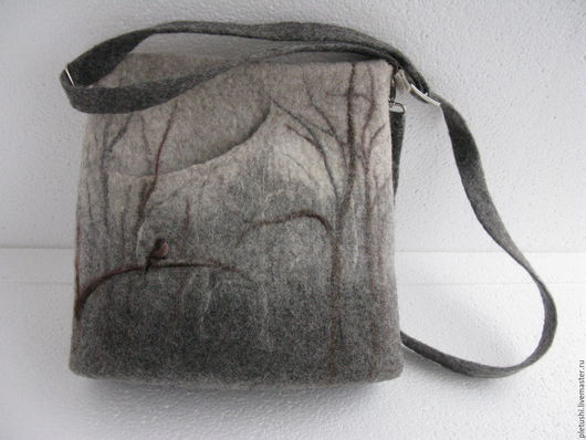 Женские сумки ручной работы. Ярмарка Мастеров - ручная работа. Купить Валяная сумка. Handmade. Сумка валяная, шерсть для валяния