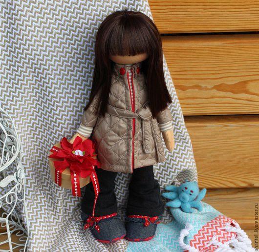 Коллекционные куклы ручной работы. Ярмарка Мастеров - ручная работа. Купить Глаша. Handmade. Бежевый, кукла интерьерная, ткань для кукол
