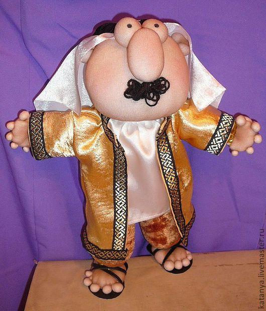 Коллекционные куклы ручной работы. Ярмарка Мастеров - ручная работа. Купить Арабский шейх. Handmade. Золотой, подарок на день рождения
