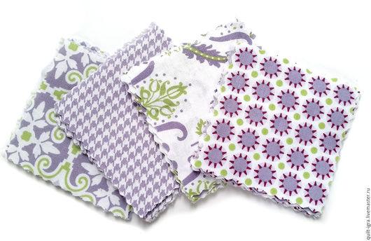 """Шитье ручной работы. Ярмарка Мастеров - ручная работа. Купить Набор для Quilt-Igra 1 """"Фиолетовый восторг"""". Handmade."""