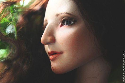 Коллекционные куклы ручной работы. Ярмарка Мастеров - ручная работа. Купить Портретная девушка. Handmade. Бежевый, авторская кукла, флюмо