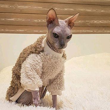 """Товары для питомцев ручной работы. Ярмарка Мастеров - ручная работа Одежда для кошек """"Шубка Шоколадка"""". Handmade."""