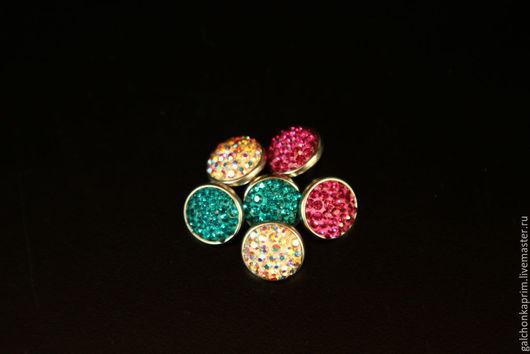 """Для украшений ручной работы. Ярмарка Мастеров - ручная работа. Купить Мини-кнопки """"Россыпь кристаллов мини 2"""" в стиле Нуса. Handmade."""