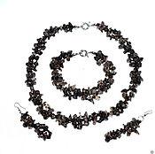Jewelry Sets handmade. Livemaster - original item Set earrings & pendant natural Topaz m. Handmade.