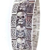 Украшения handmade. Livemaster - original item Slave bracelet: Bracelet with skulls. Handmade.