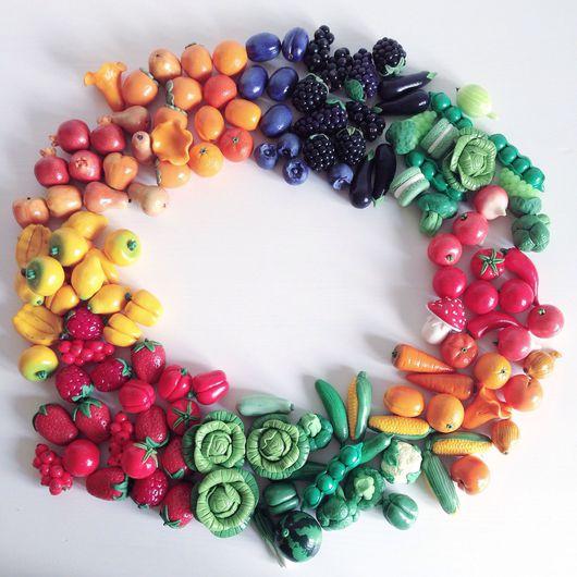 Еда ручной работы. Ярмарка Мастеров - ручная работа. Купить Овощи  из полимерной глины. Handmade. Пластика, кукла, кукольная еда
