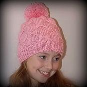 Работы для детей, ручной работы. Ярмарка Мастеров - ручная работа Вязаная шапка для девочки. Handmade.
