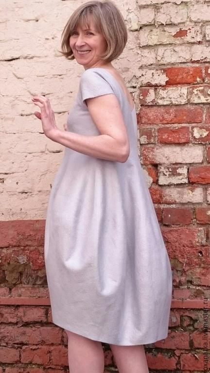 Платья ручной работы. Ярмарка Мастеров - ручная работа. Купить Валяное платье Снежность. Handmade. Голубой, платье для выпускного