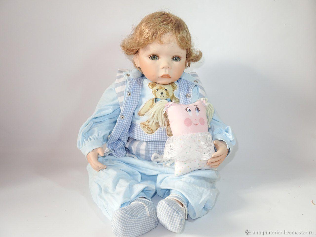 Винтаж: Фарфоровый коллекционный кукольный малыш, Куклы винтажные, Калининград,  Фото №1