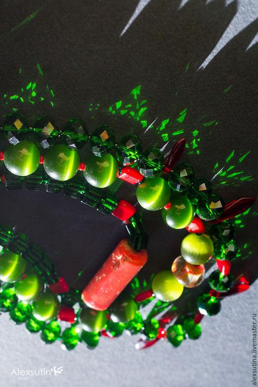 """Колье, бусы ручной работы. Ярмарка Мастеров - ручная работа. Купить Этнические бусы из бусин и натуральных камней """"Леденцы"""". Handmade."""