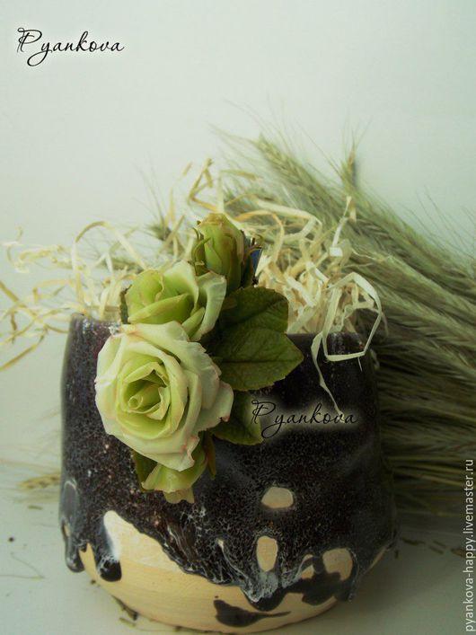 """Заколки ручной работы. Ярмарка Мастеров - ручная работа. Купить Заколка """"Белая роза"""". Handmade. Оливковый, заколка для волос"""