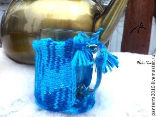 Кружки и чашки ручной работы. Ярмарка Мастеров - ручная работа. Купить Грелка для чашки. Handmade. Грелка на чашку, ручная работа
