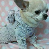 """Вязаный свитерок для маленькой собачки """" Жозефина """""""