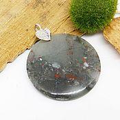 Украшения handmade. Livemaster - original item Round pendant made of Jasper Lake of the lilies. Handmade.