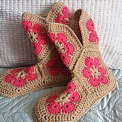 Обувь ручной работы. Ярмарка Мастеров - ручная работа Домашние сапожки. Handmade.