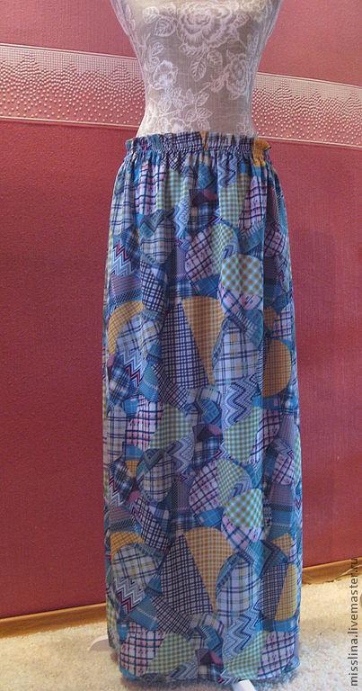 """Юбки ручной работы. Ярмарка Мастеров - ручная работа. Купить Юбка летняя """"Лоскутки"""". Handmade. Орнамент, юбка, юбка в пл"""