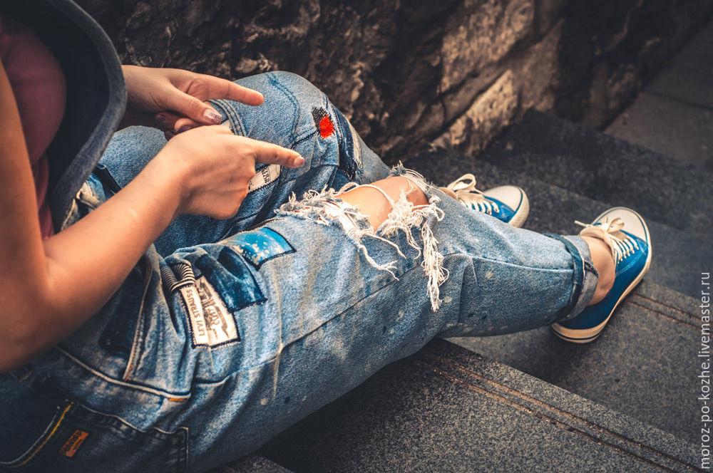Комбинезон джинсовый женский, Джинсы, Санкт-Петербург,  Фото №1