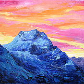 Картины и панно handmade. Livemaster - original item Oil painting Pink Dawn. Handmade.