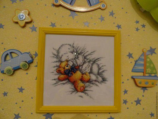 Подарки для новорожденных, ручной работы. Ярмарка Мастеров - ручная работа. Купить вышивка детская Уютный сон. Handmade. Украшение детской